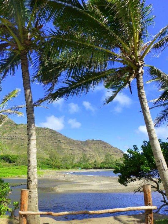 Beautiful beach in Moloka'i's Halawa Valley