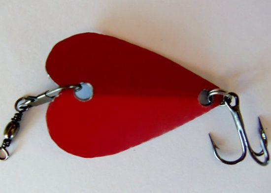 Valentines Day Handmade Custom Metal Heart by CandTCustomLures, #handmade gift bags #handmade handgun pos #radiohead creep #handmade tattoo