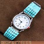 Native American Turquoise Jewelry Sterling Silver Zuni Indian Watch