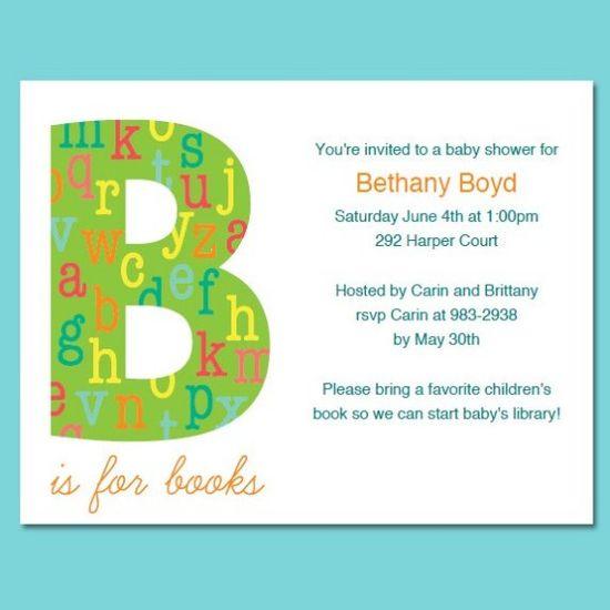 Book Shower Invitation