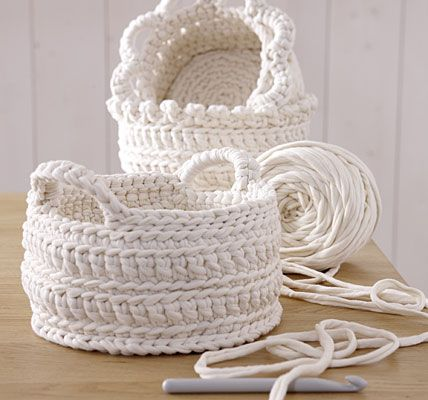 Baskets Inspiration - May have pinned this before. Use FP and BP sc and dc to get the look.