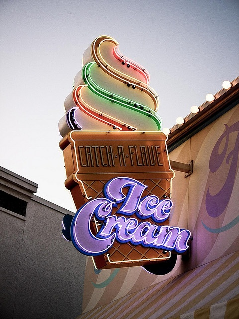 Neon Ice Cream. #typography