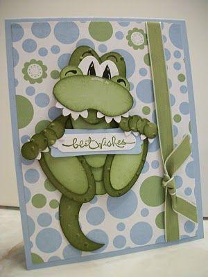Stampin' Up!  Punch Art  Alligator