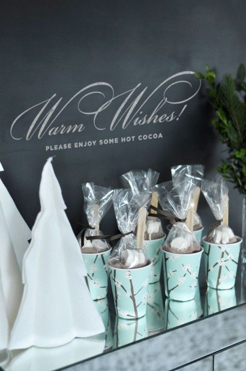 Take-home hot chocolate favors