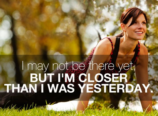 I May Not Be There Yet, But I'm Closer Than I Was Yesterday. DOING MY BEST!! #workout #fitness