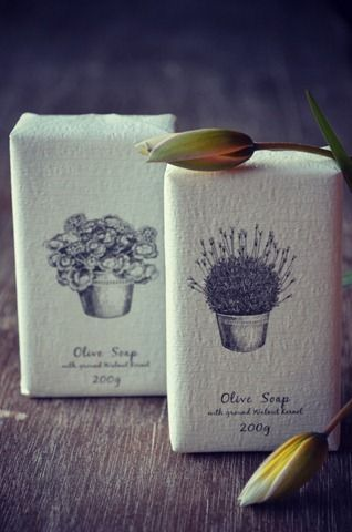 Olive soaps in beautiful packaging