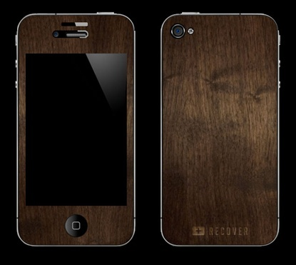 Wood grain cover for iPhone.