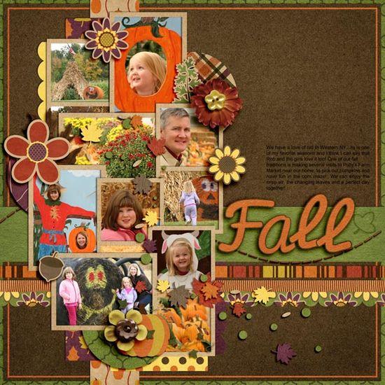 scrapbook fall layout