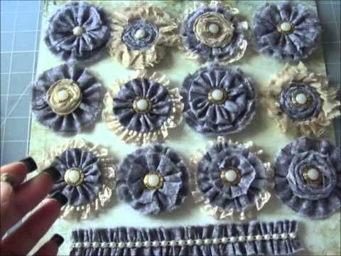 "Handmade Fabric Flowers ""Prima"
