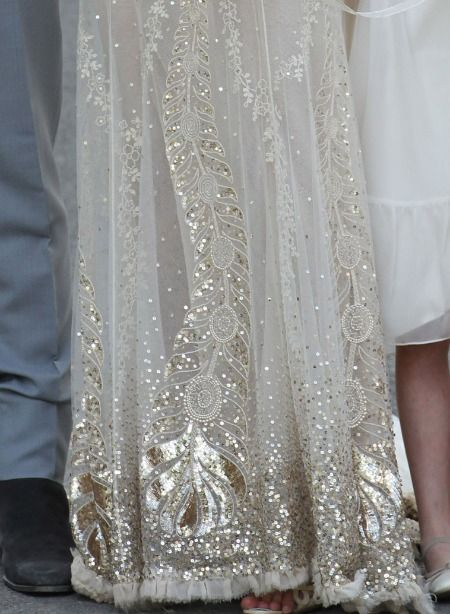 the details!   Kate Moss' wedding dress.
