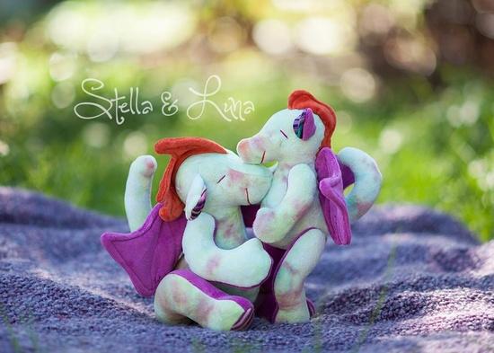 Handmade plushies by stella & luna