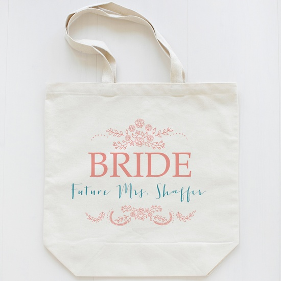 The Rosy Collection on sale this week $20  custom wedding totes