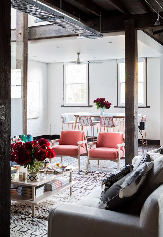 TDF Open House 2013 Sydney – OPEN TODAY! All furniture by Jardan, cushions by Bonnie and Neil, flowers by Lisa Cooper. Photo -Phu Tang.