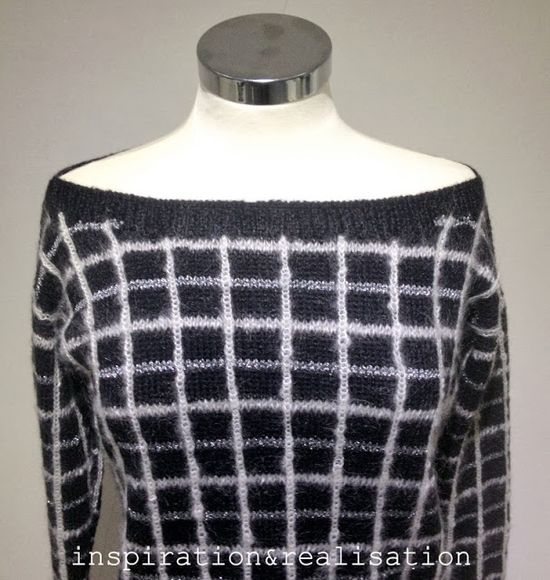 inspiration and realisation: DIY fashion blog: DIY Rodarte grid sweater