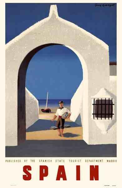 Vintage Spain Travel Poster Print