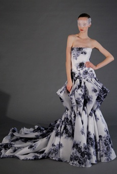 2013 Colored Wedding Dress Trend