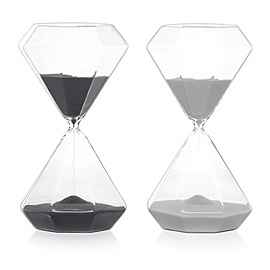 I have an hourglass on my mantle but it is not as well shaped as this one.