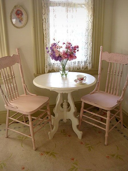 Old Table & Chairs..Tea Time - ideasforho.me/... -  #home decor #design #home decor ideas #living room #bedroom #kitchen #bathroom #interior ideas