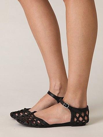 lattice mary jane sandal