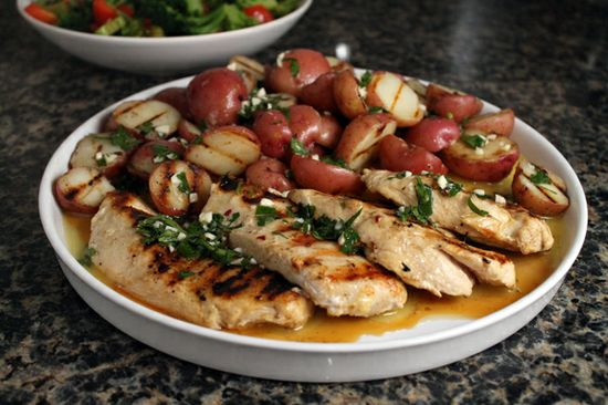 Grilled Chicken & Potatoes