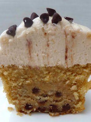 Chocolate cookie dough cupcakes!