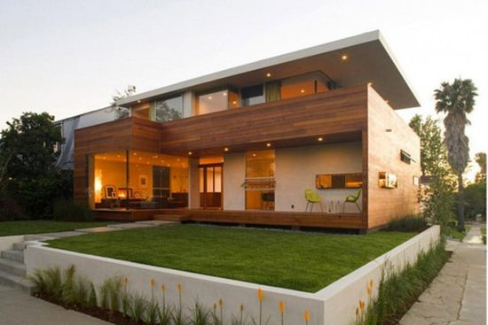 Combined Luxury House Design With Wooden Materials From Assembledge