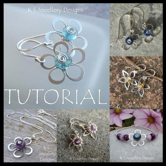 Wire Jewelry Tutorial  WIRE FLOWERS 4 by KSJewelleryDesigns