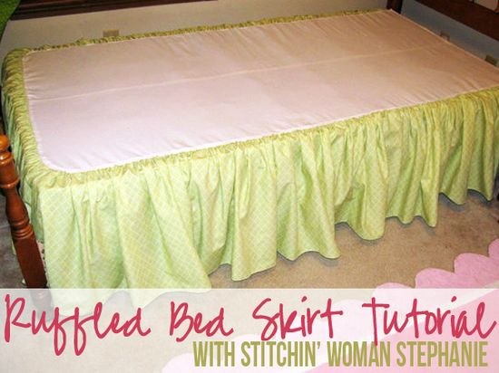 Totally Stitchin': Ruffled Bed Skirt Tutorial
