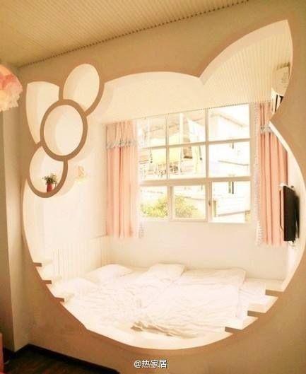 Hello kitty's bed room