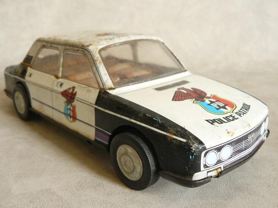 Vintage toy police car