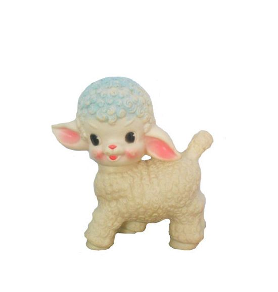 Vintage Squeaky Toy 1950's Little Lamb by Sun Rubber Co.
