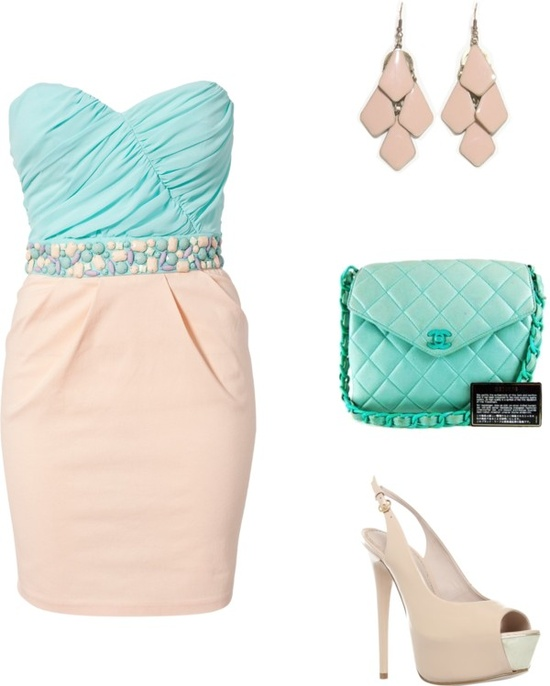 """Pink and turquoise"" by rossellalola on Polyvore"