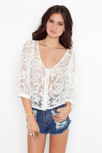this top with light coral jeans in the summer.