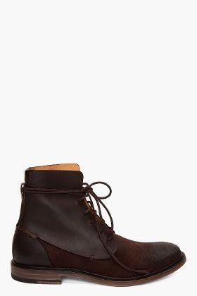 MAISON MARTIN MARGIELA Dark Brown Boots