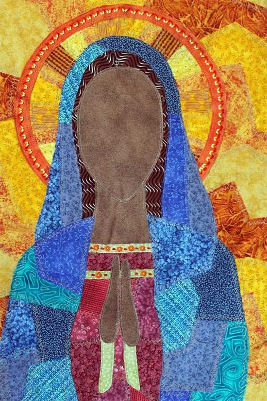 Virgin Mary art quilt by Jami Peterson-Grittner via Etsy