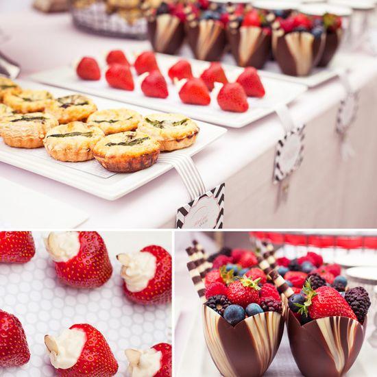 bridal shower fruit - whole foods
