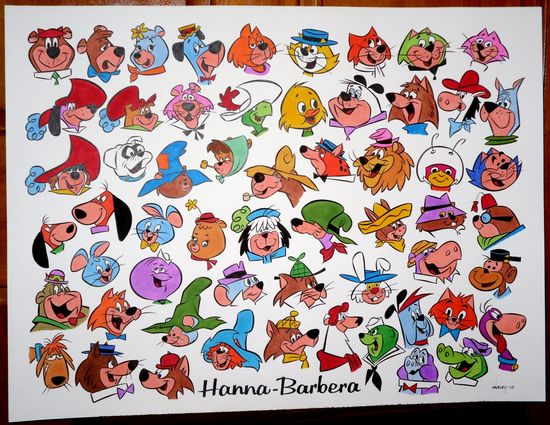 Hanna Barbera animals.