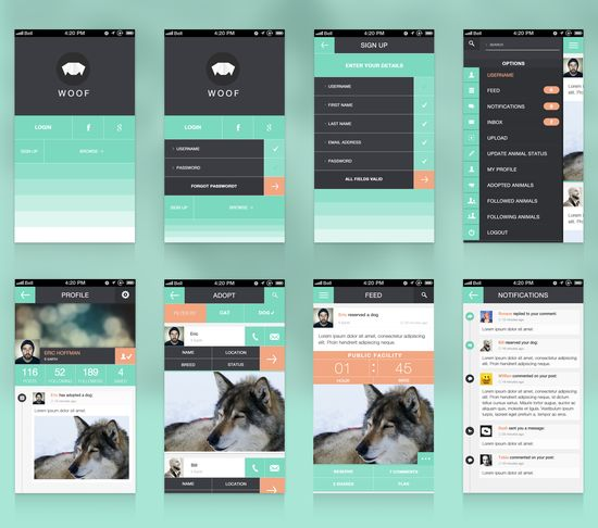 Woof App Screens