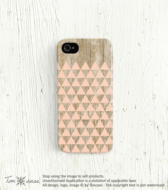iPhone 5 case triangle iPhone 4 case geometric iPhone 4s case wood print iphone 4 case pink iphone 5 case yellow lemon cute /c186 on Etsy, $19.99