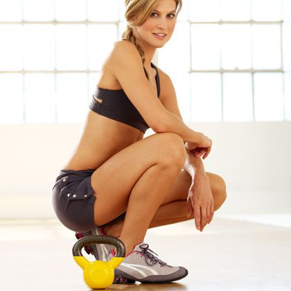 Kettlebell Exercise: Bent-Over Row - Kettlebell Workout: Burn 20 Calories a Minute! - Shape Magazine - Page 5