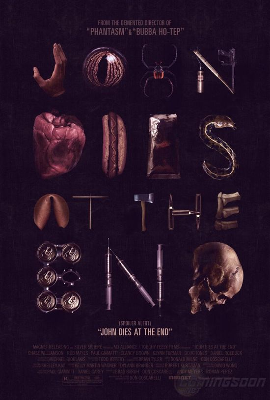 John Dies at the End, designed by Akiko Stehrenberger for Gravillis Inc, 2013.