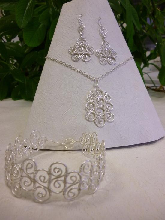 Spiral earrings wire jewelry