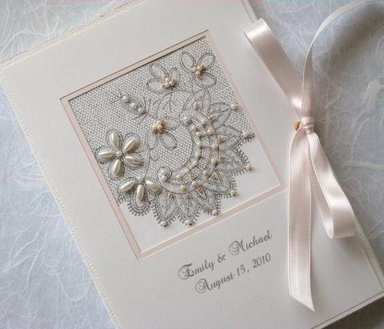 Wedding Photo Album Keepsake Personalized Bridal by Daisyblu, $26.00