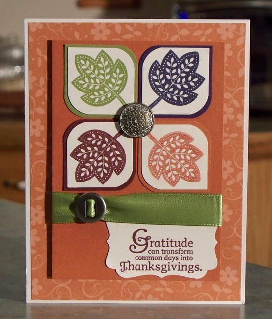Handmade Thanksgiving Card using Stampin Up by WhimsyArtCards, $4.00