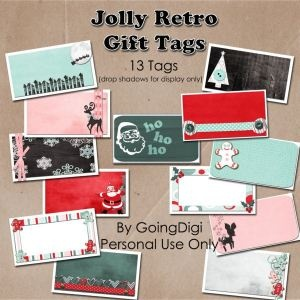 Retro gift tags