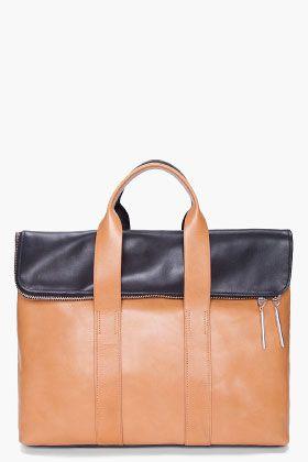 3.1 PHILLIP LIM Black & Brown 31 Hour Bag