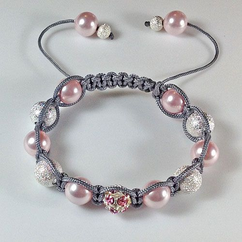 Shamballa Bracelet -Marion has excellent kits for these bracelets.  The post link is: jewelsinfiber.blo...  #Beading #Jewelry #Tutorial
