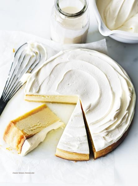 classic lemon cheesecake