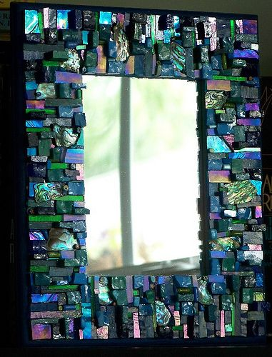 Mosaic Mirror frame, A View From Above - via Flickr.