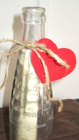 Give a message in a bottle this Valentines Day...